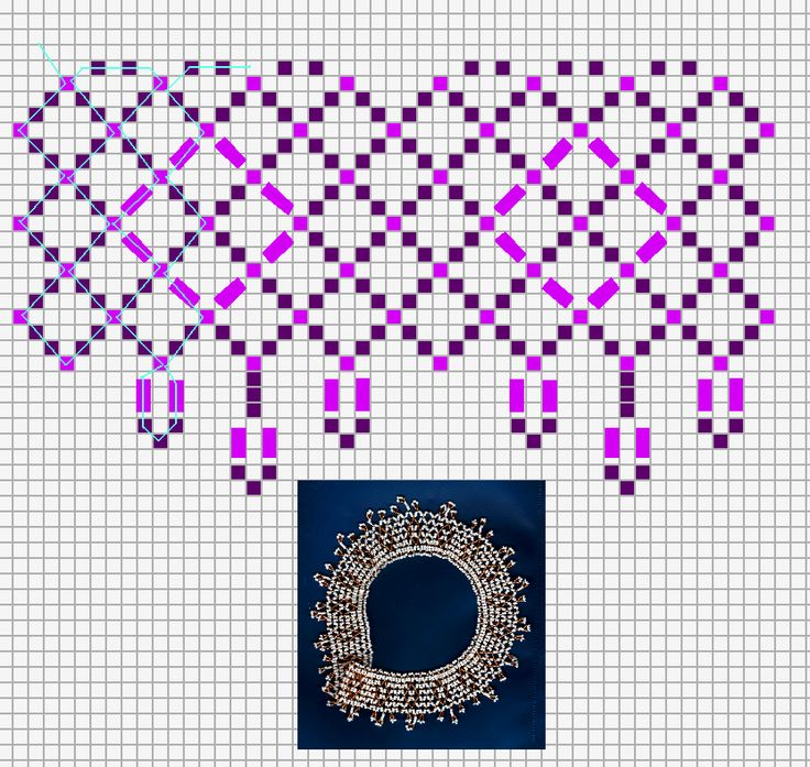 Free pattern for amazing beaded necklace Eos. U need seed beads and bugles