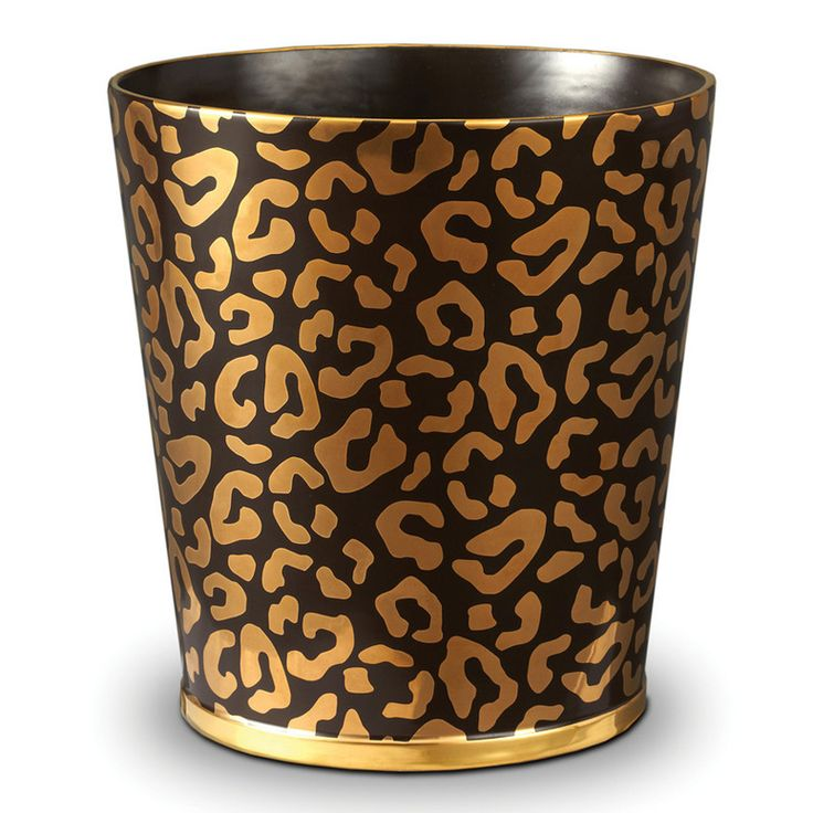 Lobject leopard waste basket