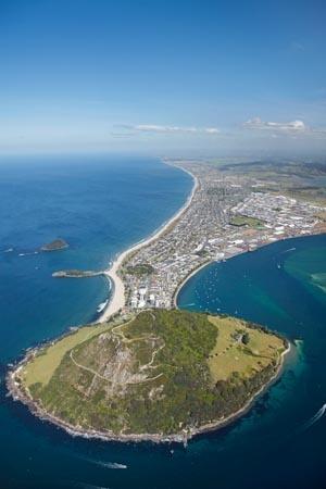 Mount Maunganui and Tauranga Harbour, Bay of Plenty, New Zealand