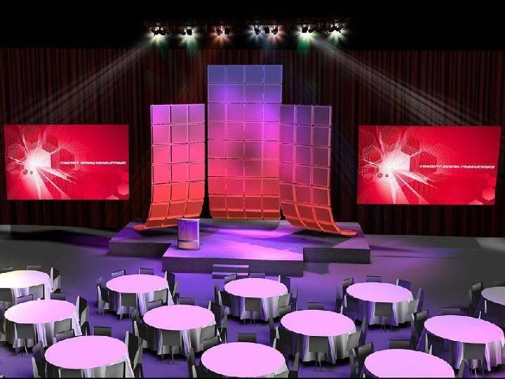 Did you know we can make custom renderings for your show within 48 hours? Contact us today to capitalize on your next show. Visit our website for more information - www.conceptdesigninc.com #design #events #corporate #staging #liveevents #liveshow #production  #eventplanning #event #creative #custom  #branding #logo #brand #modular  #awardshow #bestsets #modular