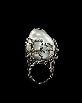Lydia Courteille Collection - Baroque Pearl Ring
