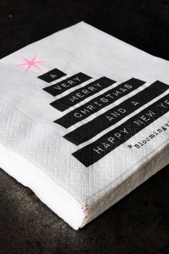 Christmas Tree Paper Napkins - bloomingville