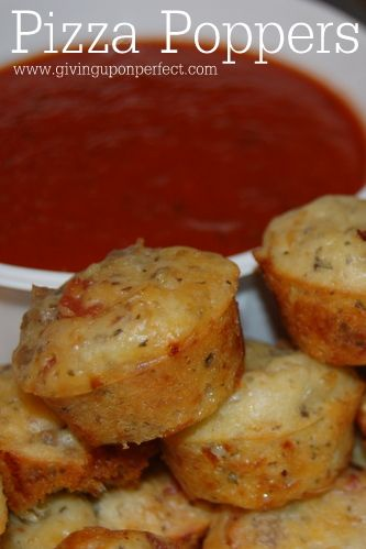 Pizza Poppers - great appetizer for game day!