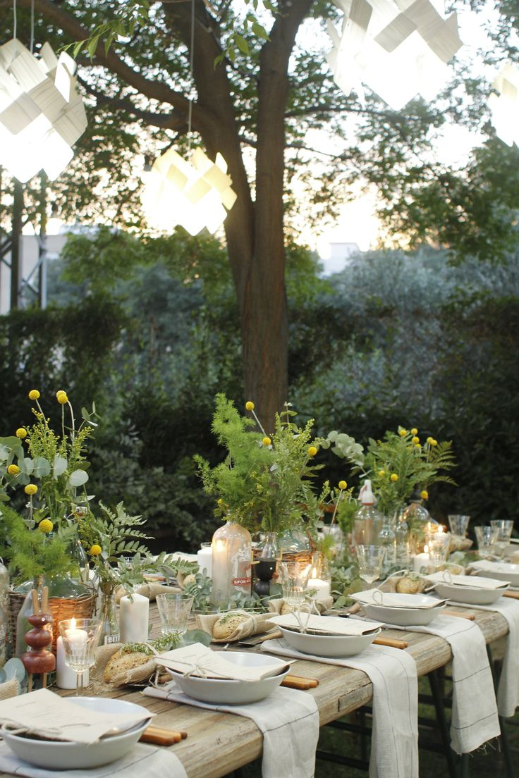 Gorgeous Garden Party with LZF Lamps. Outdoor Table DecorDinner ...