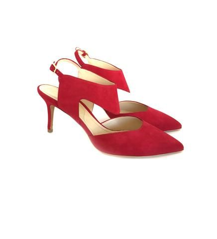 Nicholas Kirkwood Cutout pump beetroot | Quincy