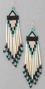 Native American Earring Patterns Free | Tipi Short Native American Beaded Earrings - Jacquie Aiche