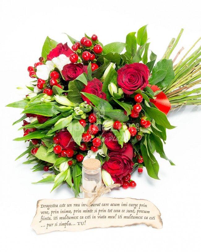 ❤ Fii romantic si de neuitat pentru sufletul ei, cu un buchet rosu intens, pasional, alaturi de un mesaj in sticla! Livrare buchete de flori online cu mesaje oriunde in Romania! ❤https://www.floridelux.ro/buchete-flori/buchete-de-flori-cu-mesaje/