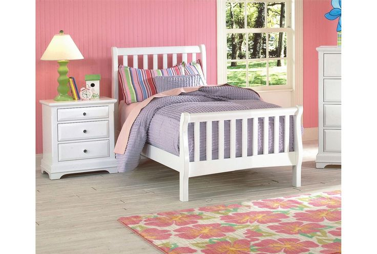$295 White Bayfront Twin Sleigh Bed