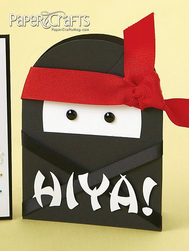 Amanda Coleman - Paper Crafts magazine  TOTALLY making these for a ninja birthday party invite for Brody next year!!!  Love it!!!