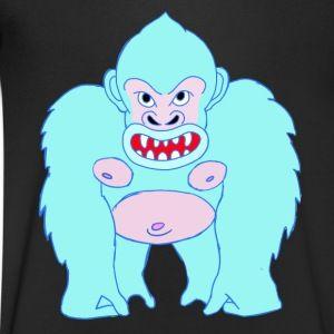 Blue Gorilla - Männer T-Shirt mit V-Ausschnitt