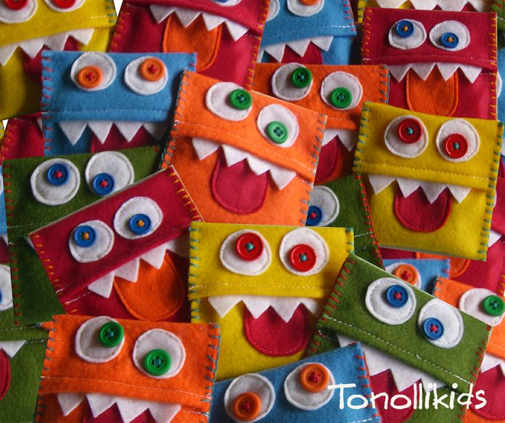 tonolli decorations for kids: Monster Inspiration for bean bags