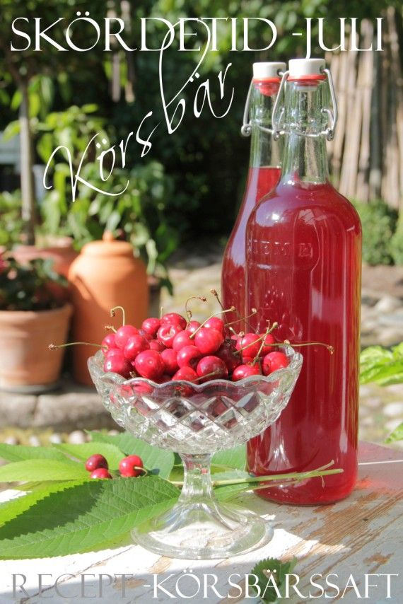 Homemade cherry soft drink from the kitchen garden
