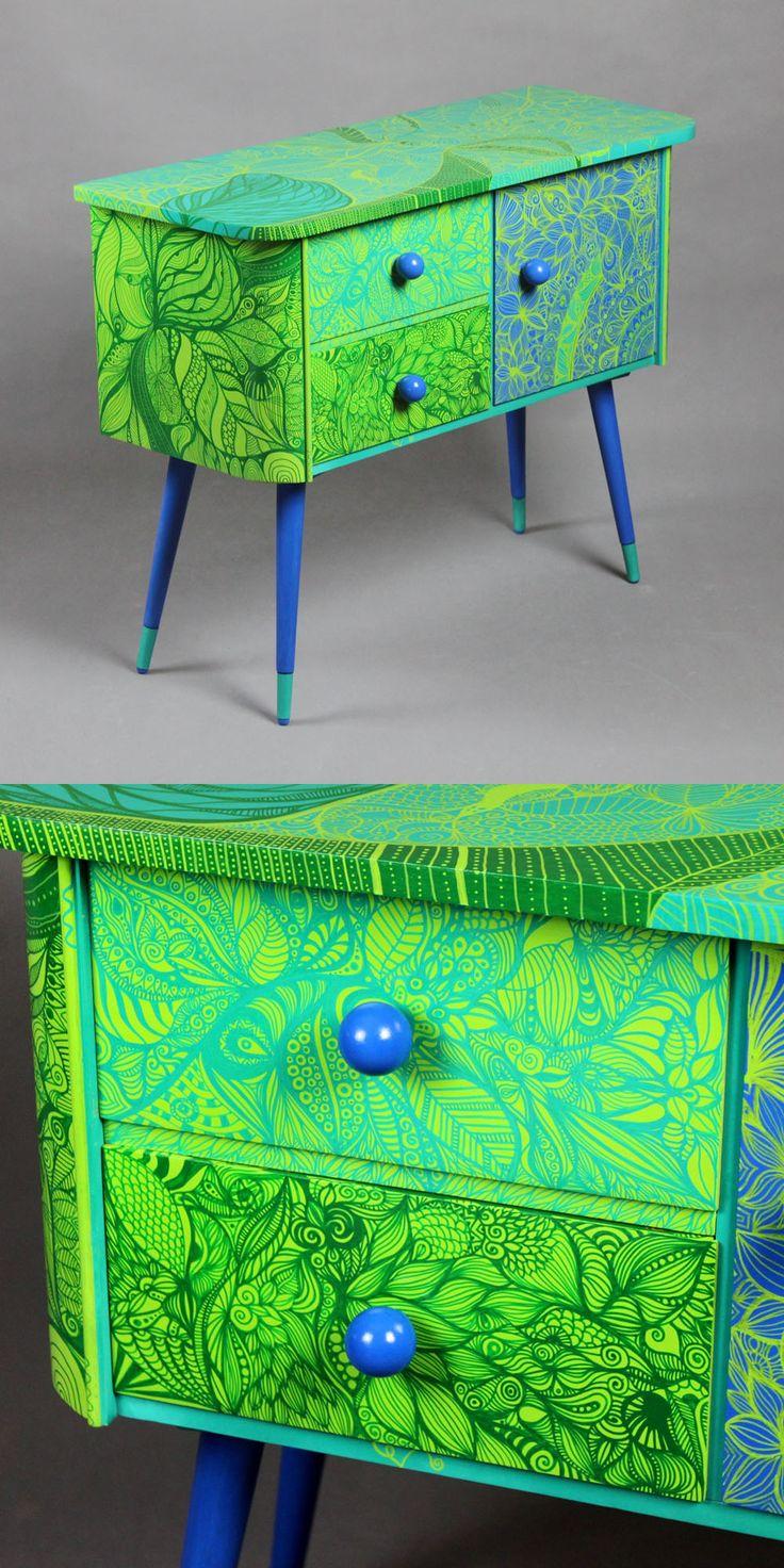 Hand-painted Art PoPo cabinet - Zen