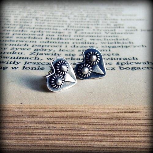 Owl jewelry owl stud earring silver stud by FiliGraceJewelry