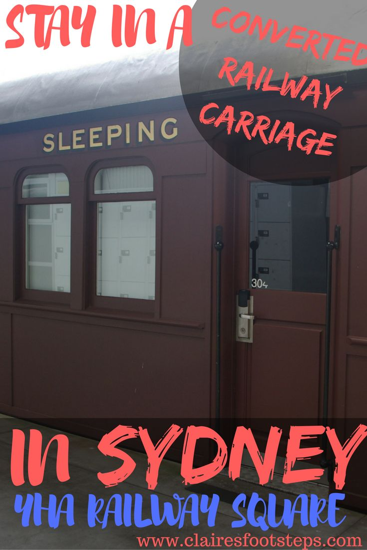 Wanting to stay at a unique hostel in Sydney? Check out this awesome YHA accommodation, where you can actually sleep in a converted railway carriage!