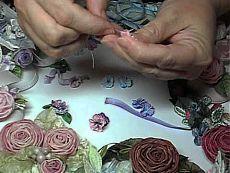 Викторианские цветы из лент. Видеоуроки..