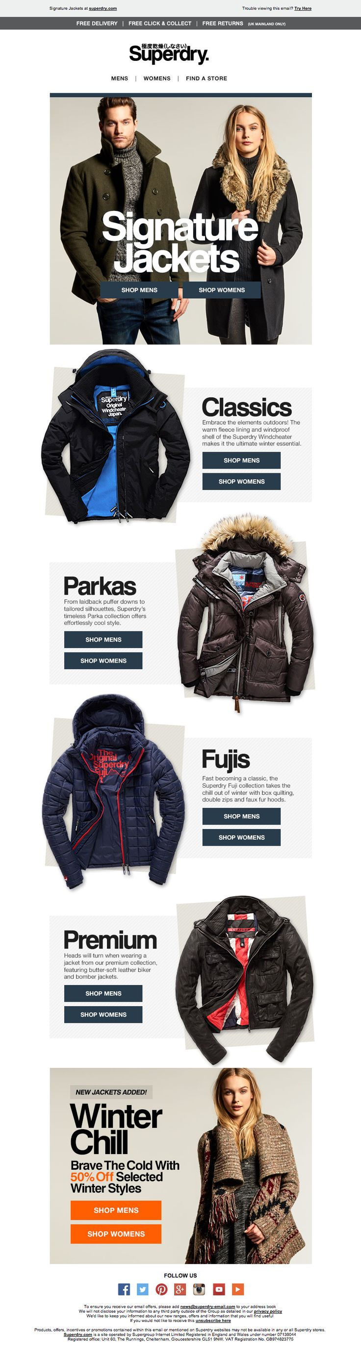 Superdry Jackets Email / Newsletter Design                                                                                                                                                                                 More