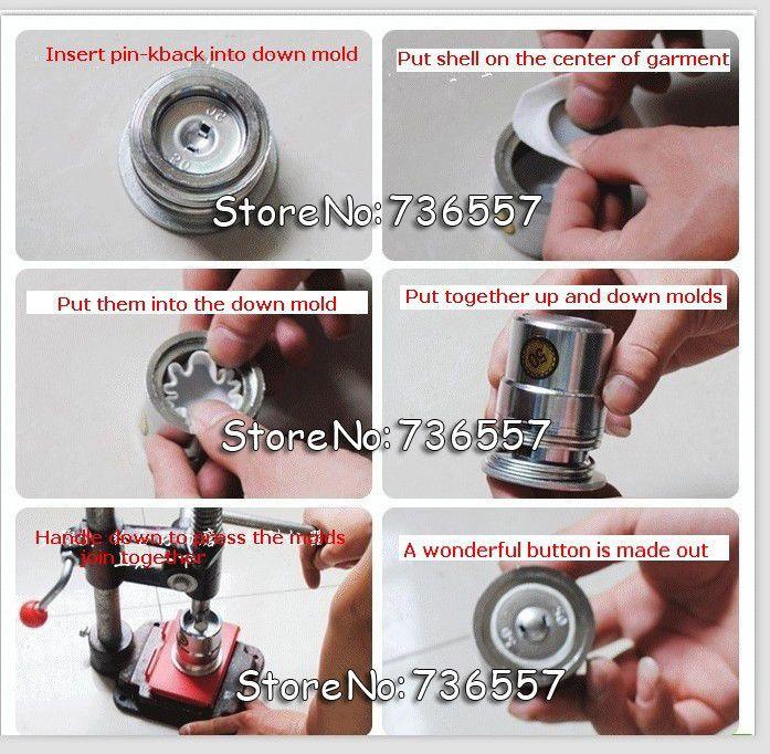 Ткань Покрыта Кнопку Пресс Машина Ручной Ткань Self Cover Button Maker Машины Инструменты для Литейной Формы 500 шт. кнопки оптовая купить на AliExpress