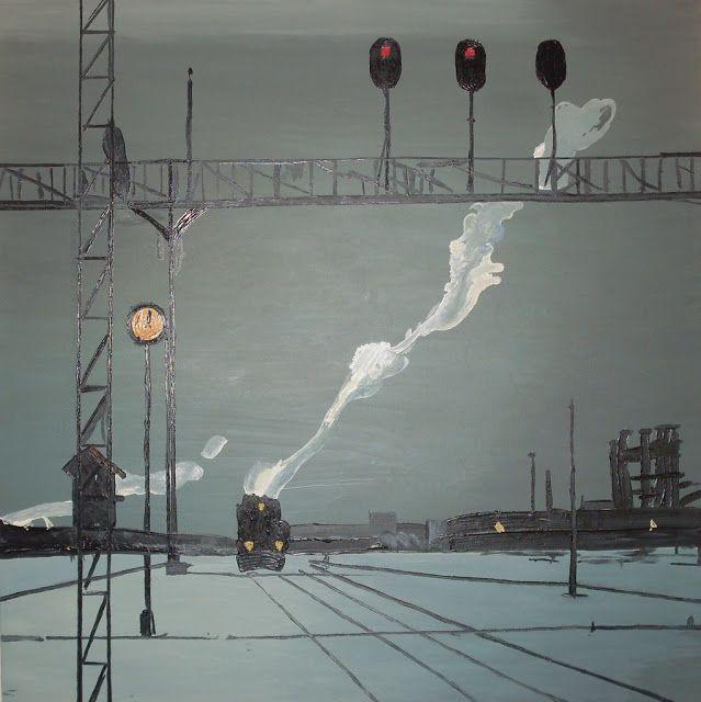 1930s Nissky Georgy Grigorievich (Russia, 1903-1987) Railroad
