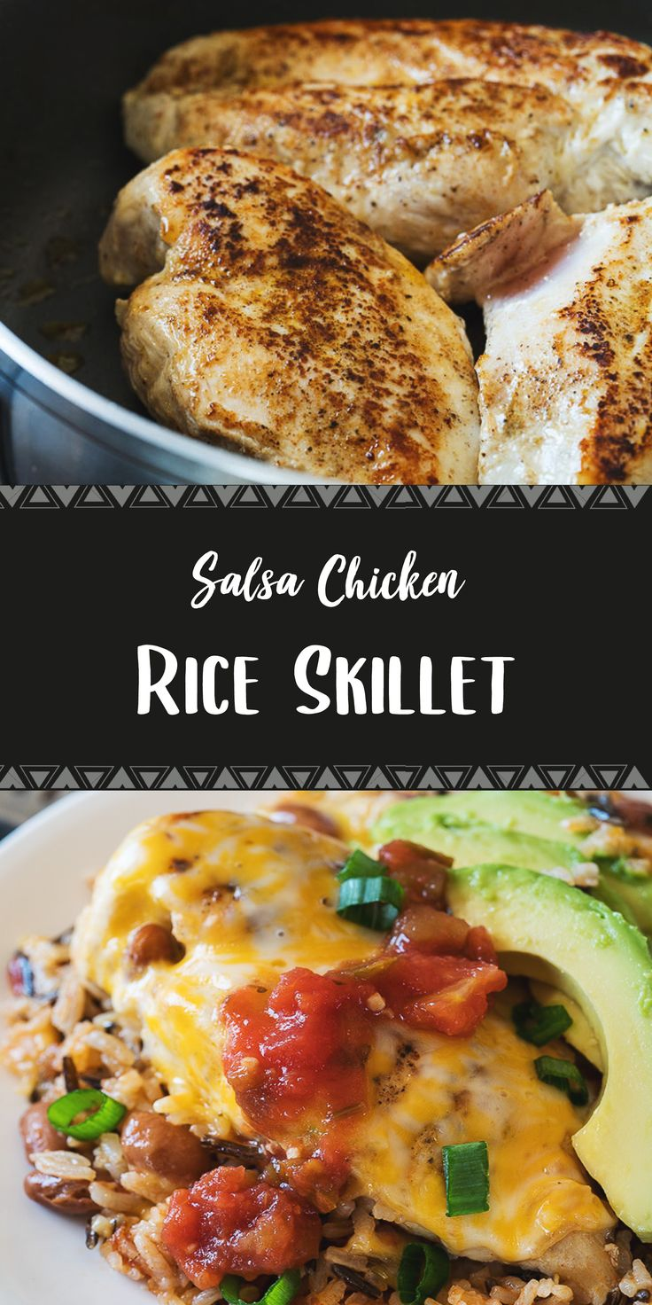 Salsa Chicken Rice Skillet