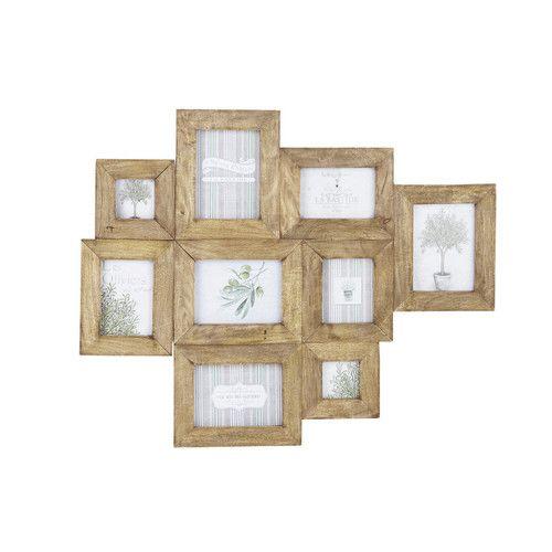 Cadre photo multivues en manguier effet vieilli 69 x 84 cm AGENAIS - 70€