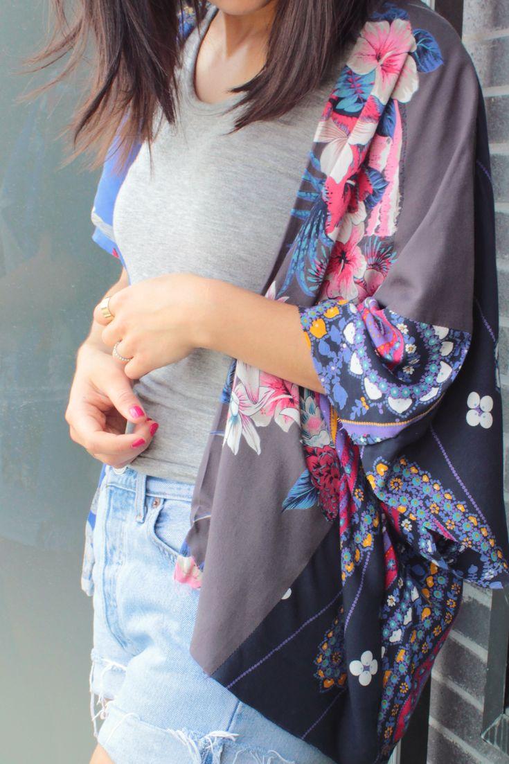 """DIY Kimono. Find beautiful fabric approx. 35"""" x 23"""""""