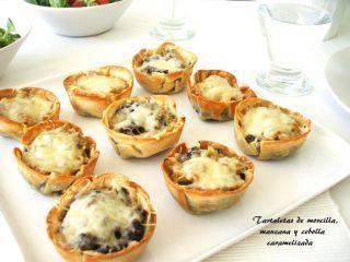 Tartaletas de morcilla y manzana, Receta Petitchef