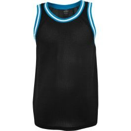 URBAN CLASSICS BLACK TURQUOISE MESH TANKTOP - Vests and Tanktops - Menswear. For the days at the beach!