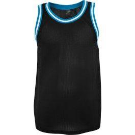 URBAN CLASSICS BLACK TURQUOISE MESH TANKTOP - Vests and Tanktops - Menswear