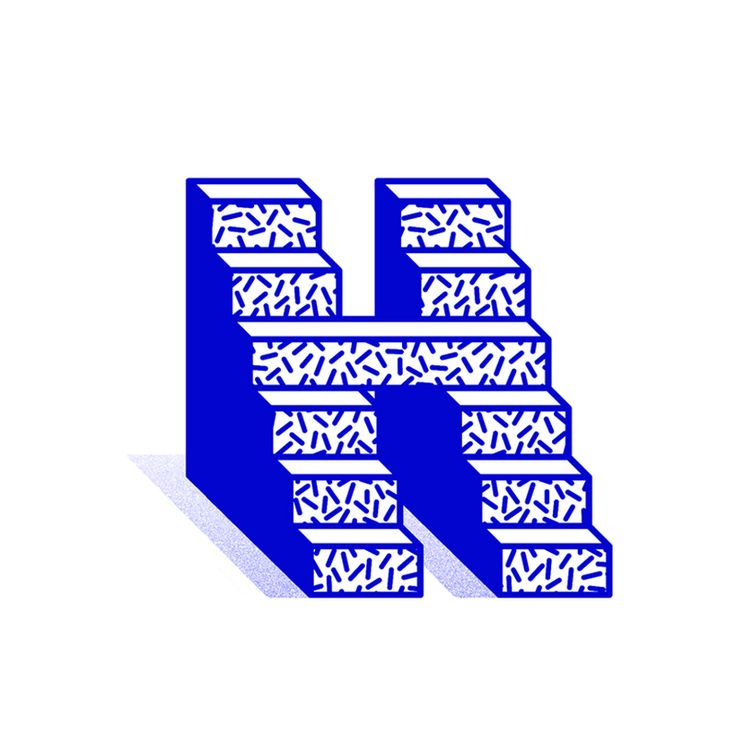 H - Blue series / 36 Days of type #2