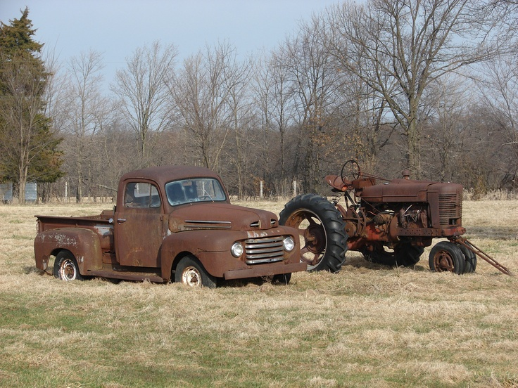 Old Tractor and truck