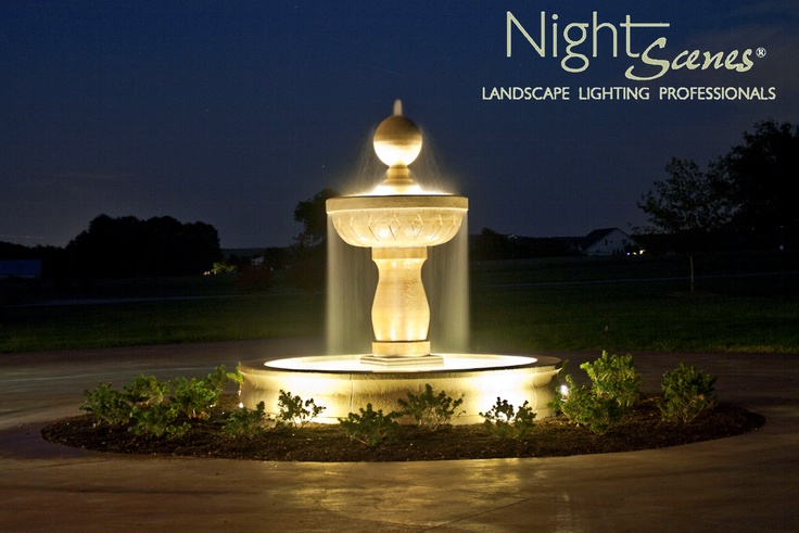 AOLP Award Winning Water Feature Lighting. LED Outdoor Landscape Lighting  By Www.night Scenes.com | Outdoor Lighting | Pinterest | Water Features, ...
