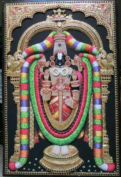 Sri Srinivasa Tanjore painting....