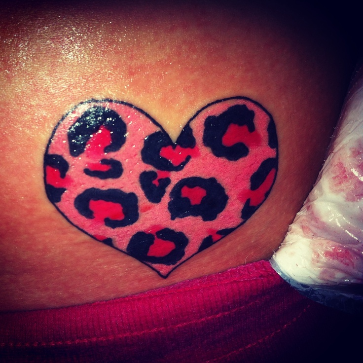 My tattoo ! Cheetah print heart ! Real cute and girly ...