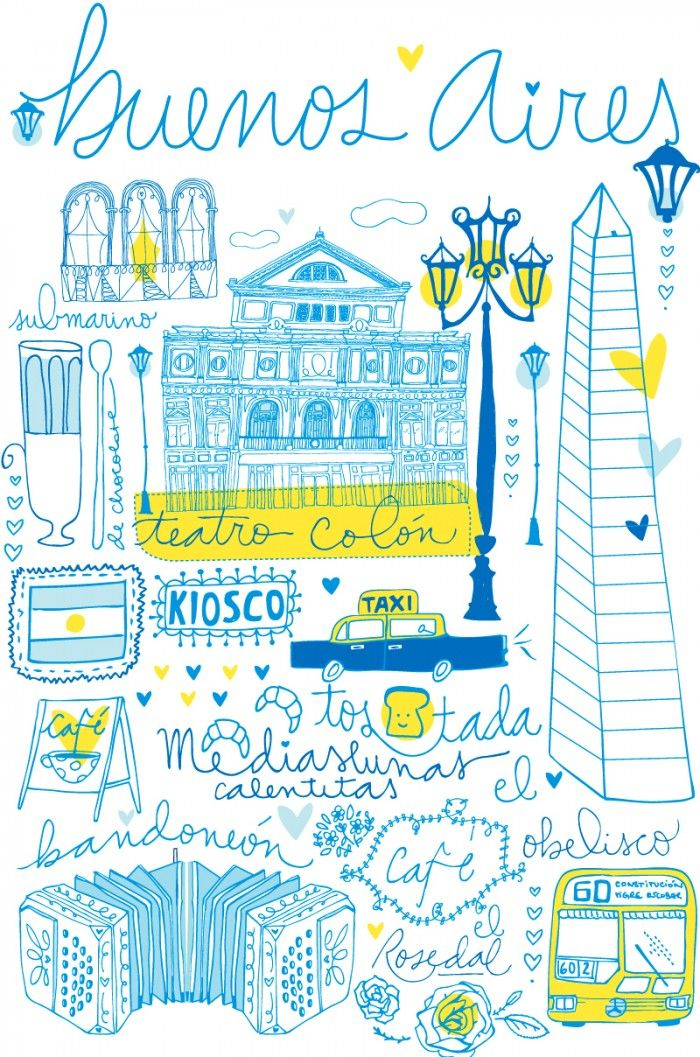 Travel Sketches  //  Also, an article for Most Exciting Places in Buenos Aires // indietravel.net