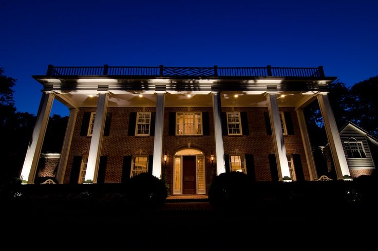 Classic architecture lends itself to outdoor lighting beautifully and provides all the elements needed to portray the graceful charm and elegance of a home under the spell of our outdoor lighting.