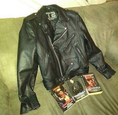 Men's Real Leather Jacket Arnold Schwarzenegger Terminator 2
