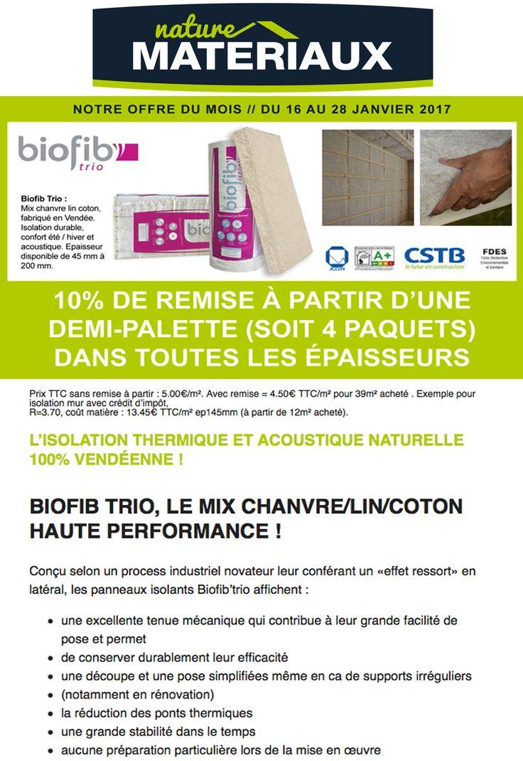 """ACACLISSON - NATURE MATERIAUX : Biofid trio """"L'offre du mois"""" !"""