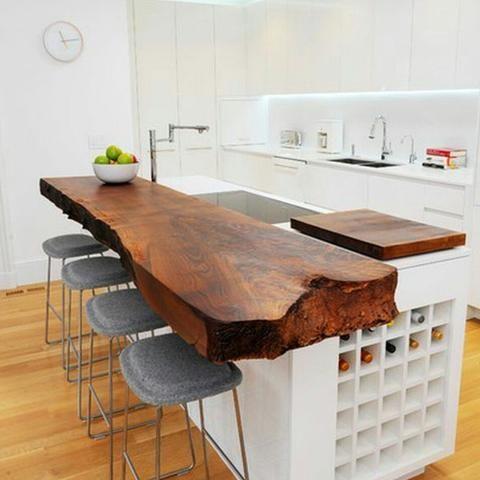 Bancada de cozinha - Madeirado - Móveis de madeira maciça. mmm