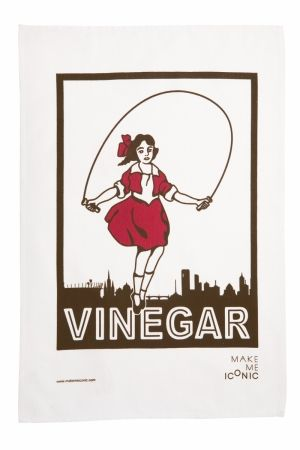 Little Audrey, the famous icon for Skipping Girl Vinegar. These tea towels are hand screen printed and made from 100% cotton.