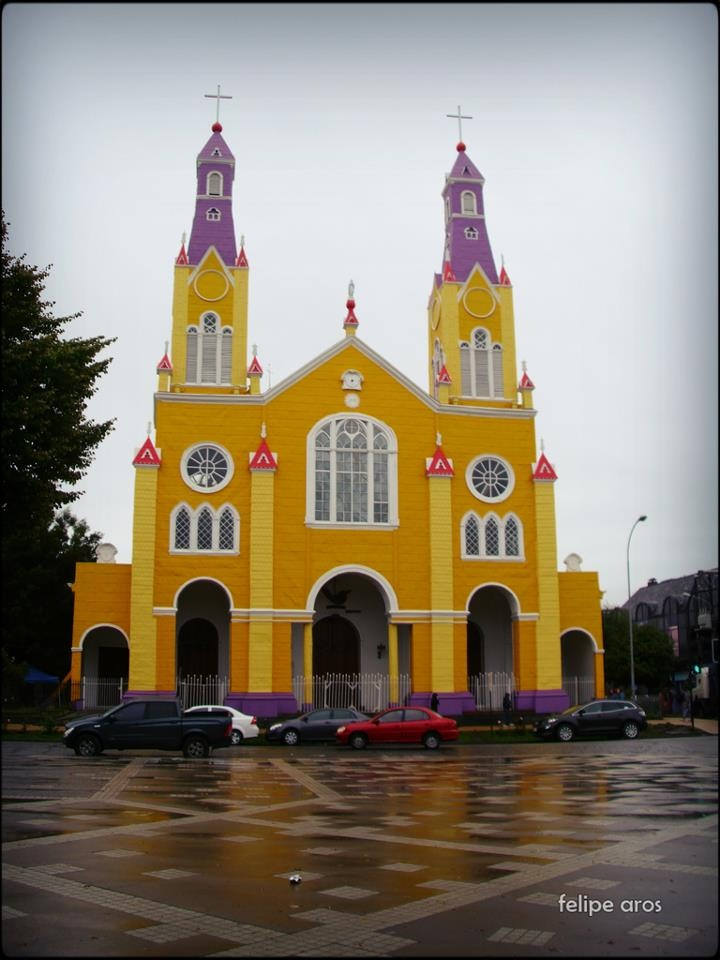 Iglesia de Castro Chiloe . Chile. The statues that I saw inside (1980's) were so lifelike and beautiful.