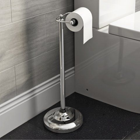 Freestanding Toilet Roll Holder -soak.com