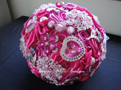 Gemma's Fuschia Pink Brooch Bouquet – Baroque Bridal Boutique