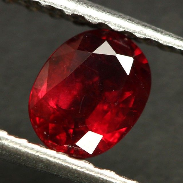 0.71 CTS CERT RED MOZAMBIQUE RUBY - HEAT ONLY (CDR343)  ruby