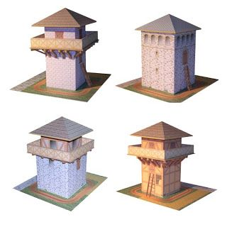 Roman Watchtower Paper Models