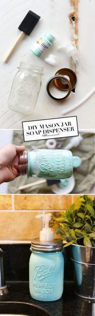 DIY Mason Jar Soap Dispenser - SHEuncovered.com