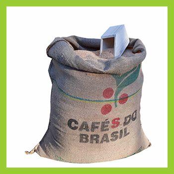 Sac de sciure pour toilette sèche en toile de jute. sac à café recyclé.