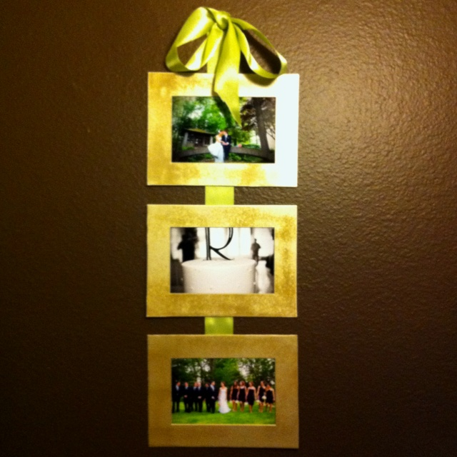 10 best images about Hanging photos with ribbon on