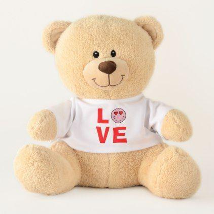 Valentine Heart Eyes Emoji Love Medium Teddy Bear - heart gifts love hearts special diy