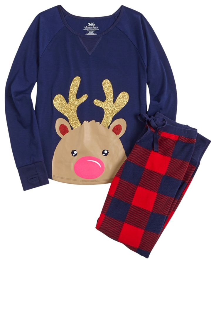 Reindeer Pajama Set (original price, $9.99) available at #Justice